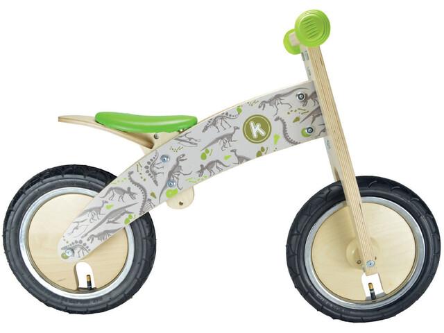 Kiddimoto Kurve Løbecykel Børn grøn/hvid | Learner Bikes